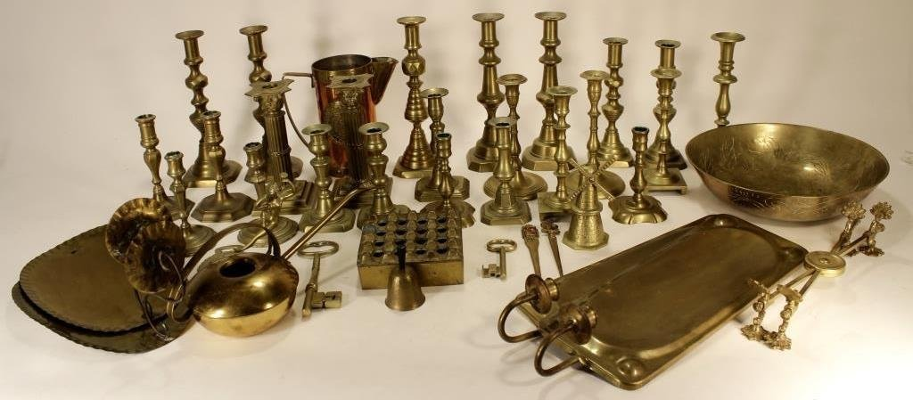 Lot of Copper/Brass Objects, 19-20th C.