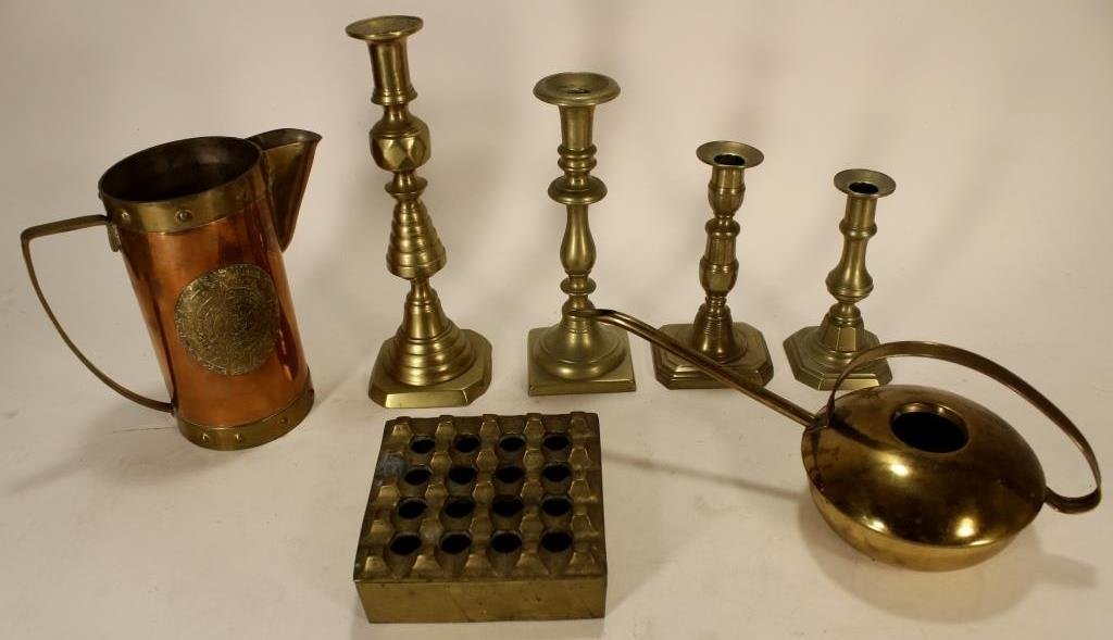 Lot of Copper/Brass Objects, 19-20th C. - 3