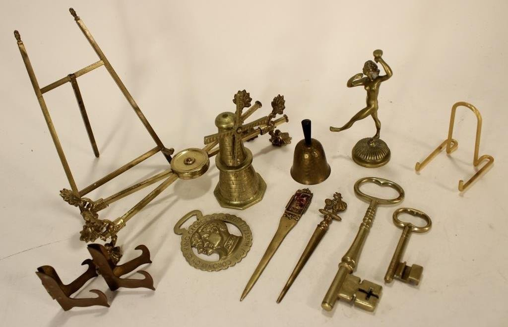 Lot of Copper/Brass Objects, 19-20th C. - 5