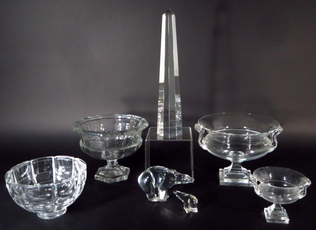Group of Crystal Objects includes Baccarat,Steuben