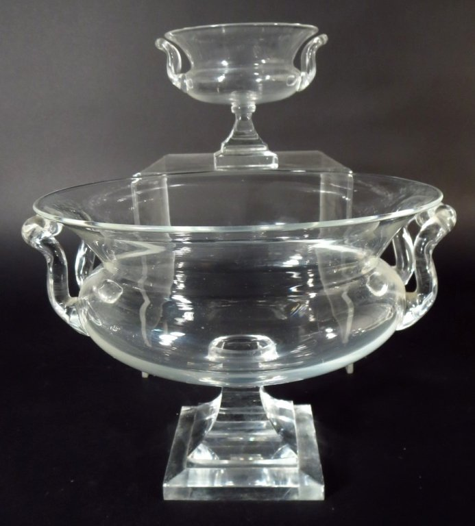 Group of Crystal Objects includes Baccarat,Steuben - 2