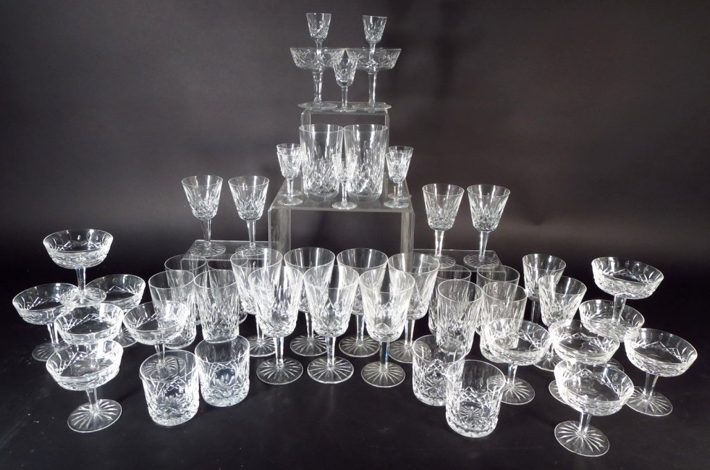 59 Pieces Waterford Glassware, in 6 Sizes - 2