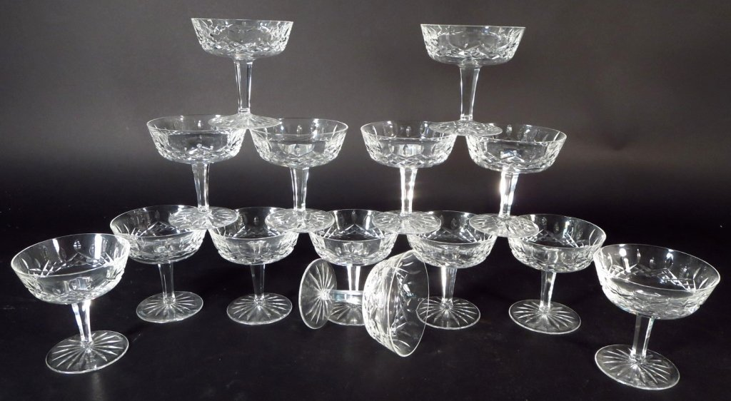 59 Pieces Waterford Glassware, in 6 Sizes - 3