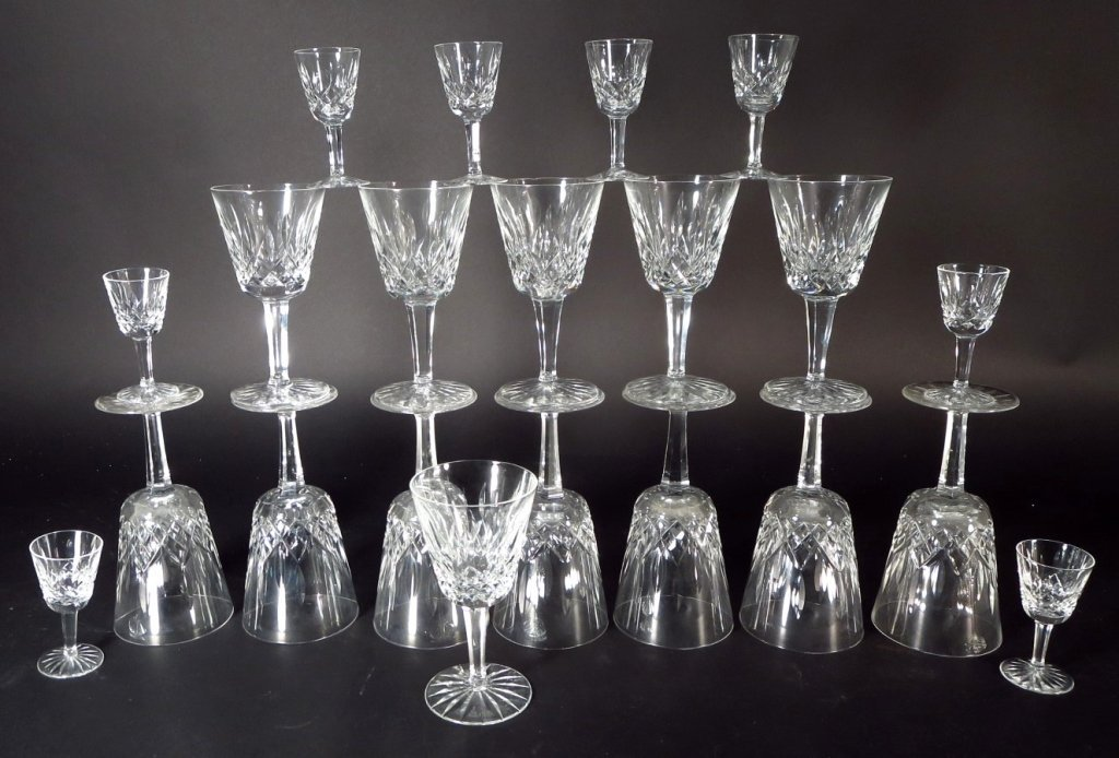 59 Pieces Waterford Glassware, in 6 Sizes - 5