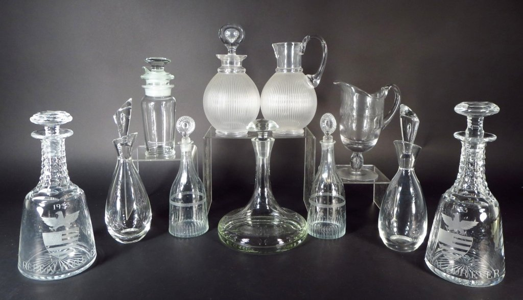 Grp. of Traditional/Contemporary Bar Ware, 20th C.
