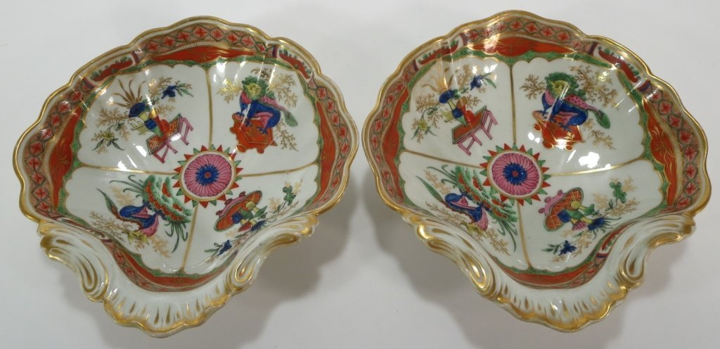 Pair of Chamberlain Worcester Dishes, c. 1794 - 2