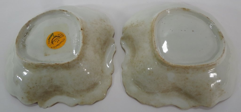 Pair of Chamberlain Worcester Dishes, c. 1794 - 6