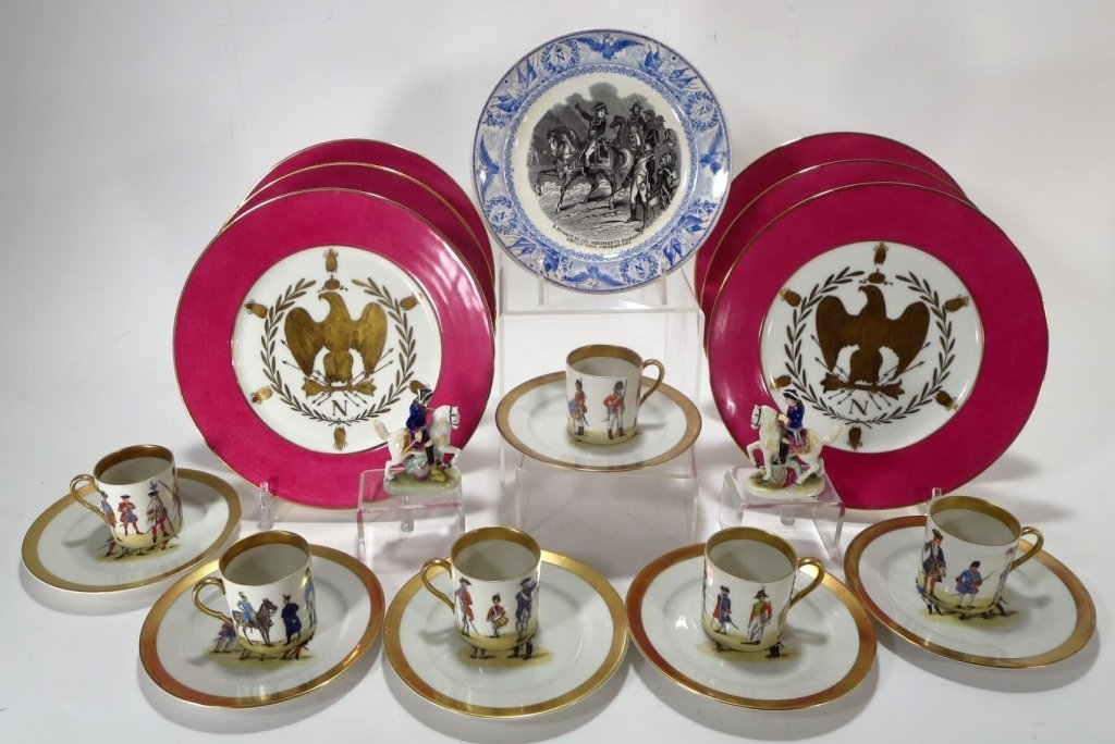 Grp. of Napoleonic Decorated Porcelain Objects