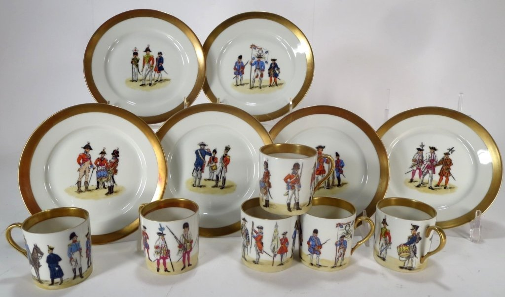 Grp. of Napoleonic Decorated Porcelain Objects - 7