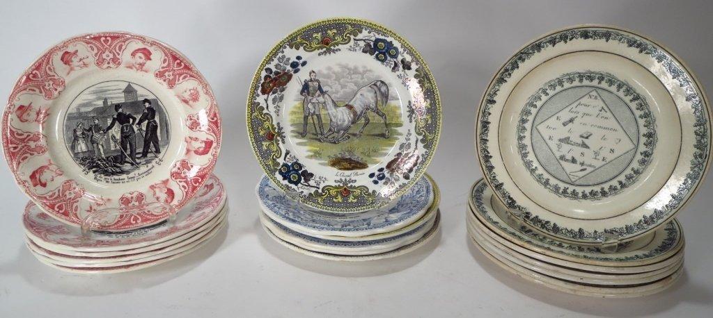 19 French Soft Paste & Porcelain Plates