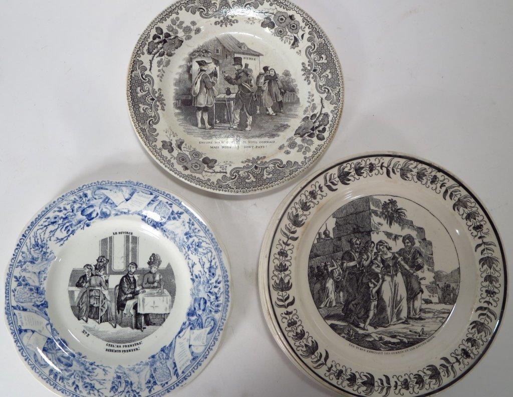 19 French Soft Paste & Porcelain Plates - 5