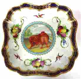 2 Worcester 'Lord Henry Thynne' Dessert Dishes, c. 1785