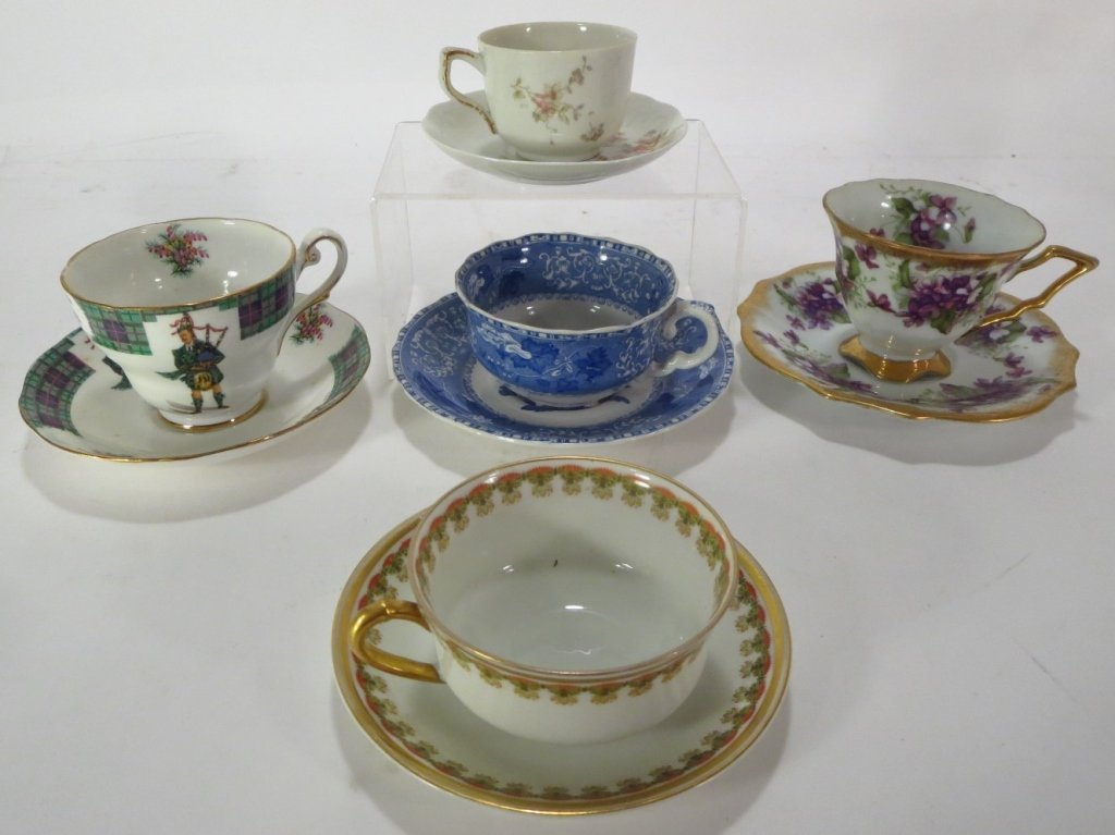 Assorted group of 16 Teacups and Saucers - 2