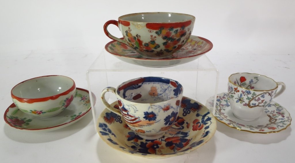 Assorted group of 16 Teacups and Saucers - 6
