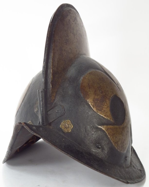 Munich Town Guard Black and White Morion, 4th Q, 16th c