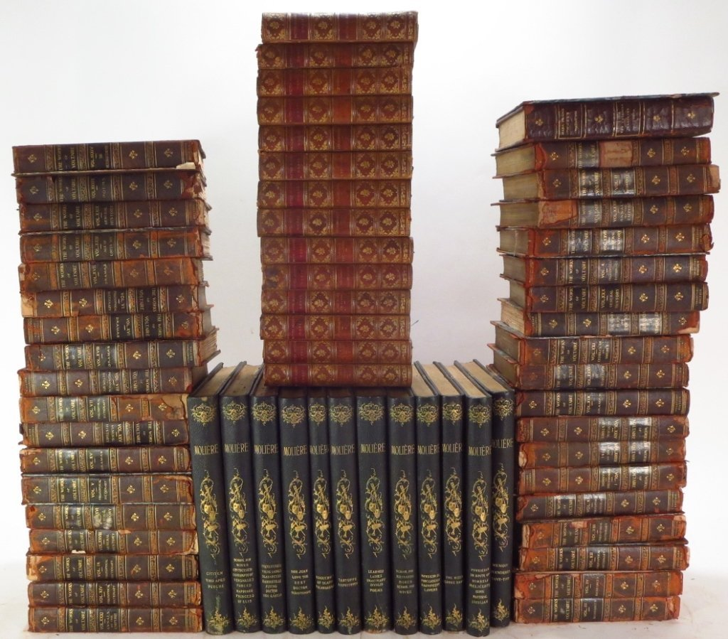 Moliere, Voltaire & Hugo Leather Bound Collections