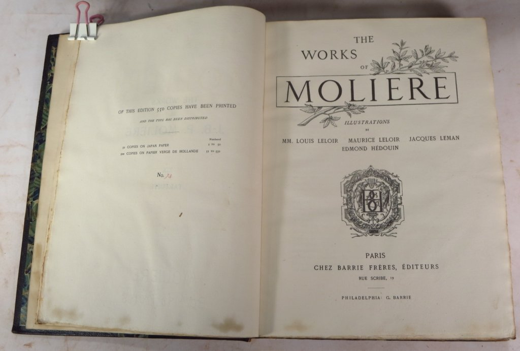 Moliere, Voltaire & Hugo Leather Bound Collections - 3