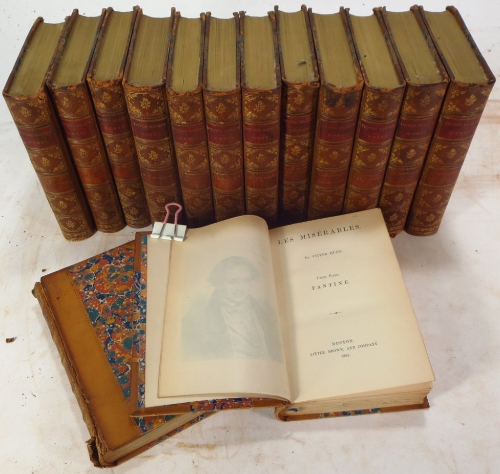 Moliere, Voltaire & Hugo Leather Bound Collections - 4