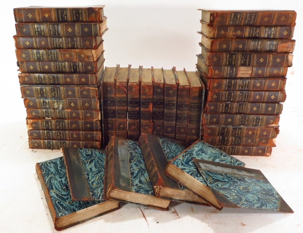 Moliere, Voltaire & Hugo Leather Bound Collections - 5