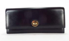Bulgari Black Leather Clutch