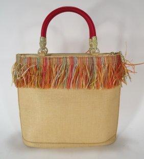 Keiselstein-Cord Straw Handbag