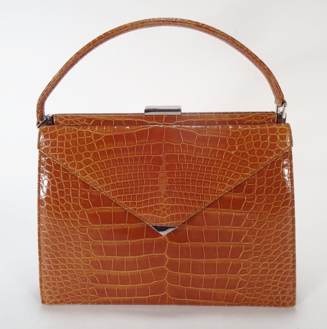 Nina Bascom Alligator Handbag