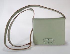 Green Leather Shoulderbag by Ferragamo
