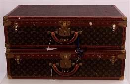 Two Vintage Louis Vuitton Hardcase Suit Cases