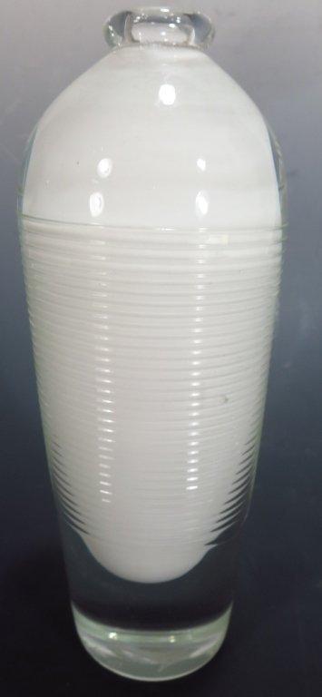 Benjamin Moore, Glass Vase, Signed.