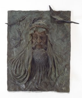 """Ann Froman, Am., b. 1942, """"Moses"""", Large Bronze"""