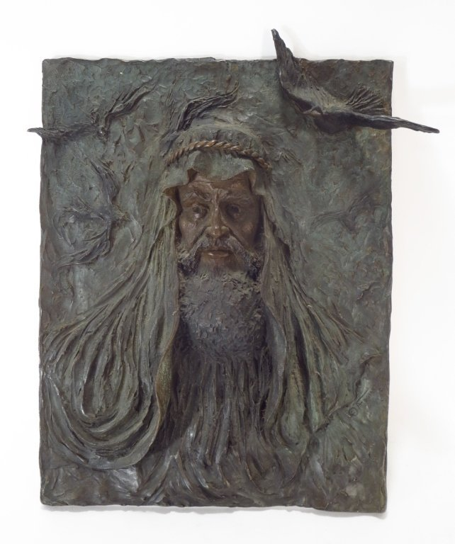 "Ann Froman, Am., b. 1942, ""Moses"", Large Bronze"