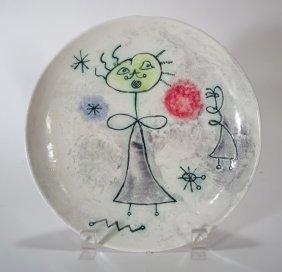 Miro Style Ceramic Plate