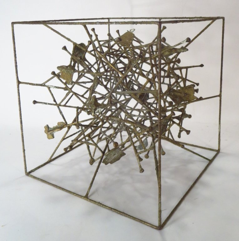 Klaus Ihlenfeld, Bronze Sculpture Within a Cube. - 2