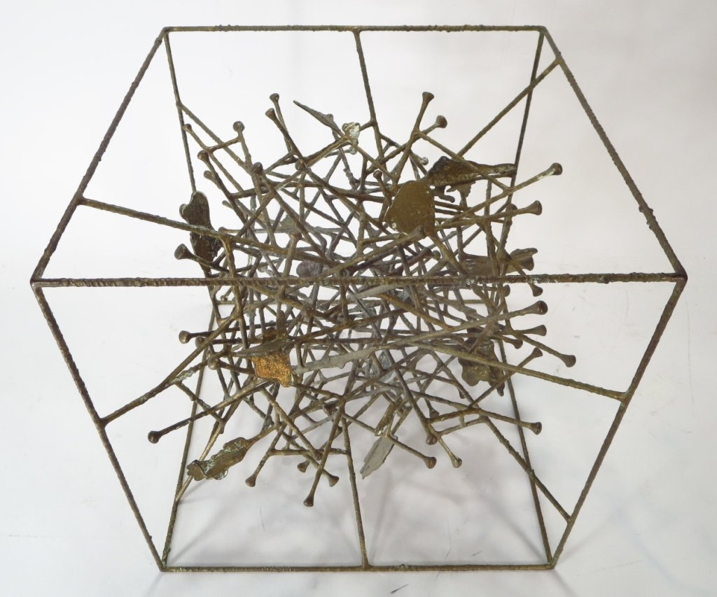 Klaus Ihlenfeld, Bronze Sculpture Within a Cube. - 3