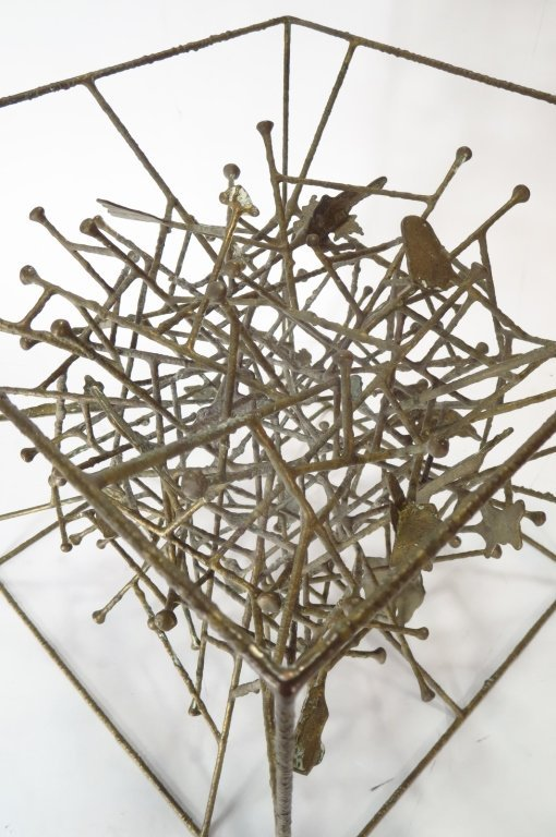 Klaus Ihlenfeld, Bronze Sculpture Within a Cube. - 4