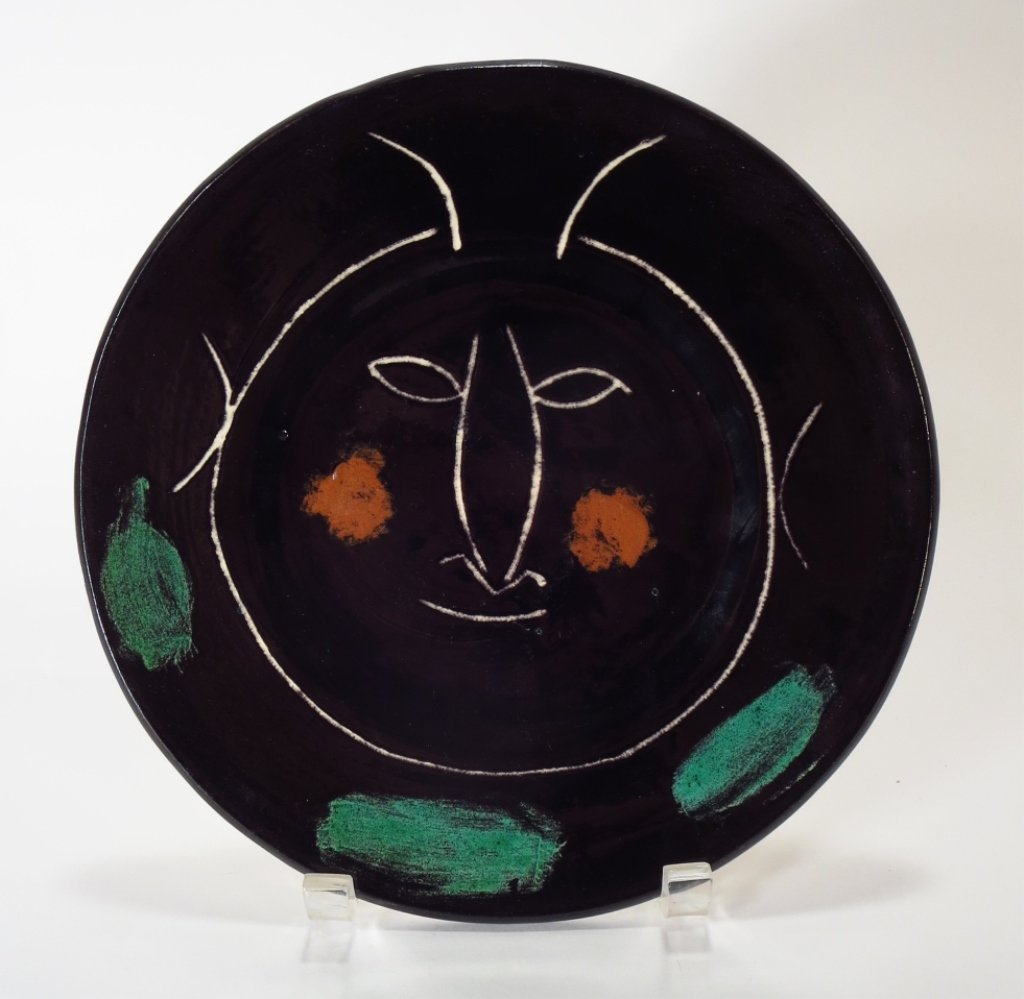 "Picasso ""Black Face H"" Earthenware Plate, 1948"