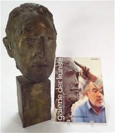 """Manzu, It., 1908-1991,""""Anthony Quinn"""", Bronze bust"""