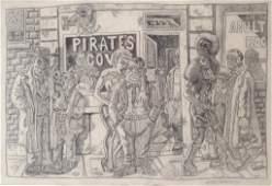 Joe Coleman Untitled Pencil Drawing 1976