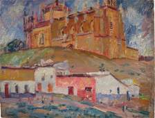 Max Kuehne, Am., Spanish Hilltop Church, O/B