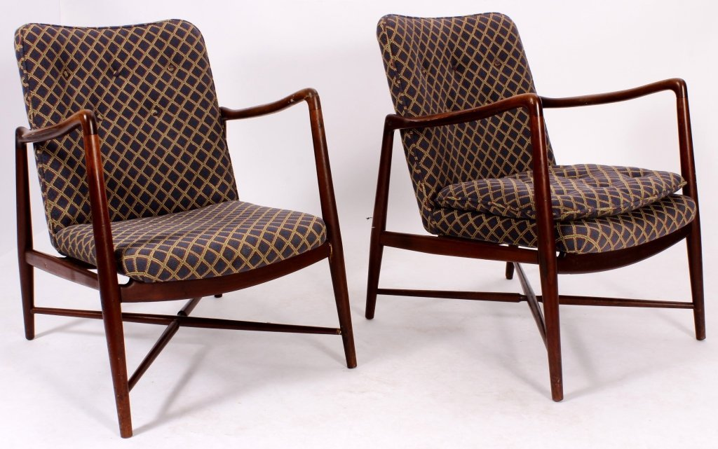 Pair of Finn Juhl Danish Teak Fireside Chairs - 3