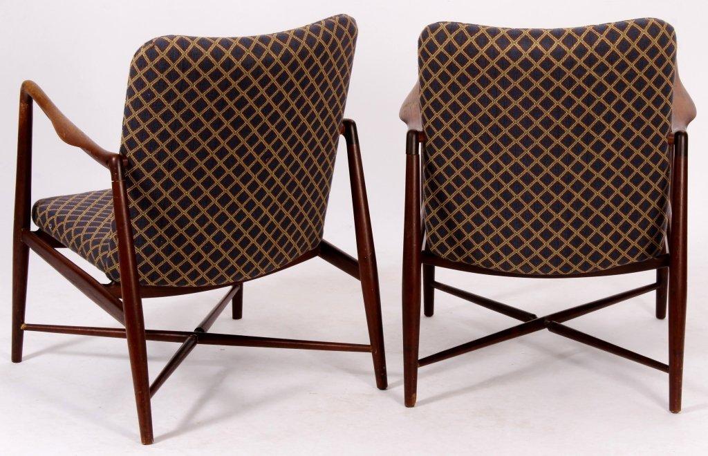 Pair of Finn Juhl Danish Teak Fireside Chairs - 4