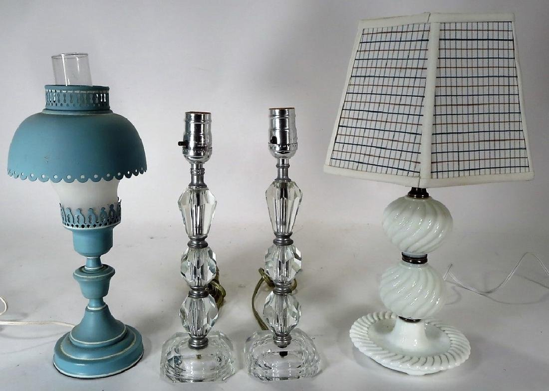 Group of 4 Table Lamps, 20th
