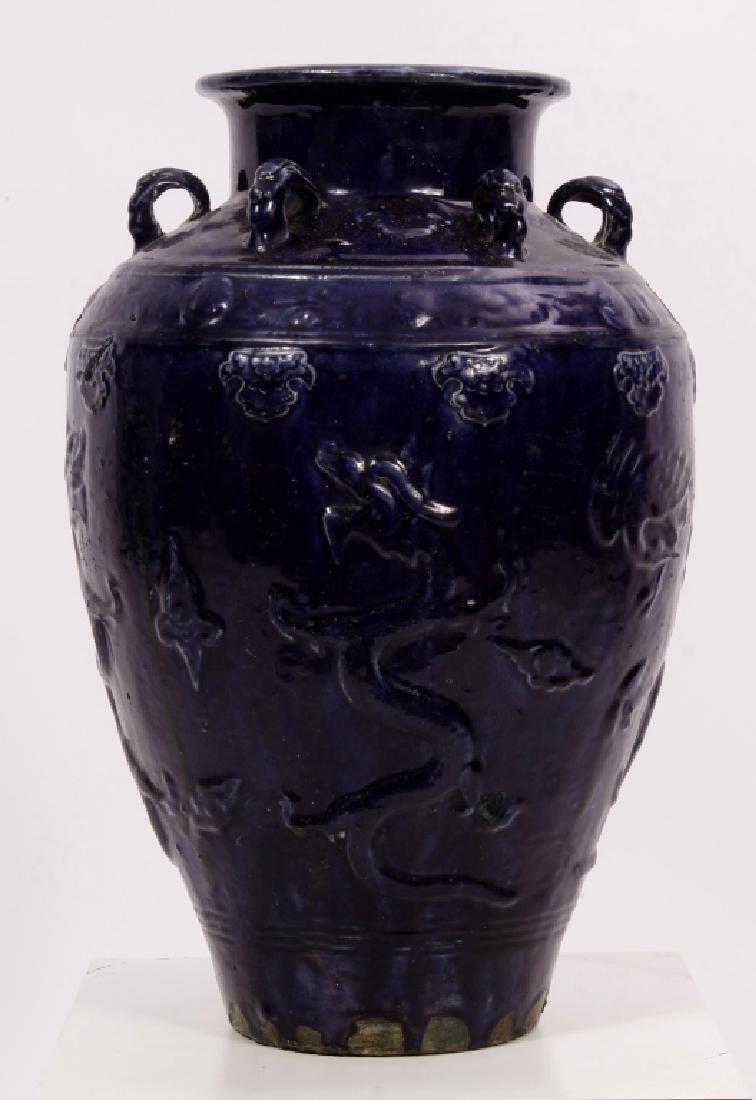 Chinese Qing Dynasty Martaban Storage Jar
