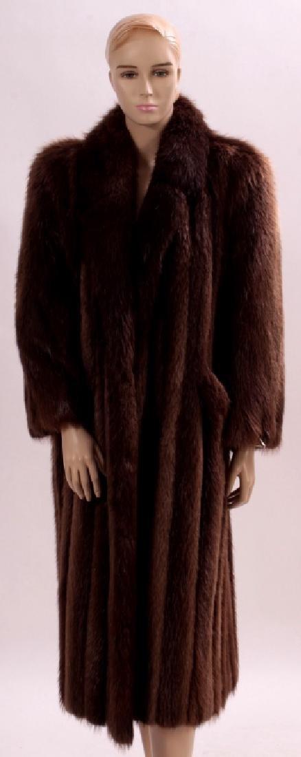 Long Brown Fur Coat