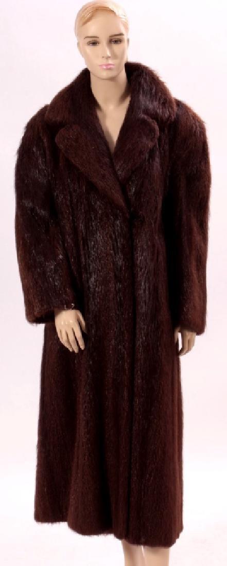 Brown Fur Coat.