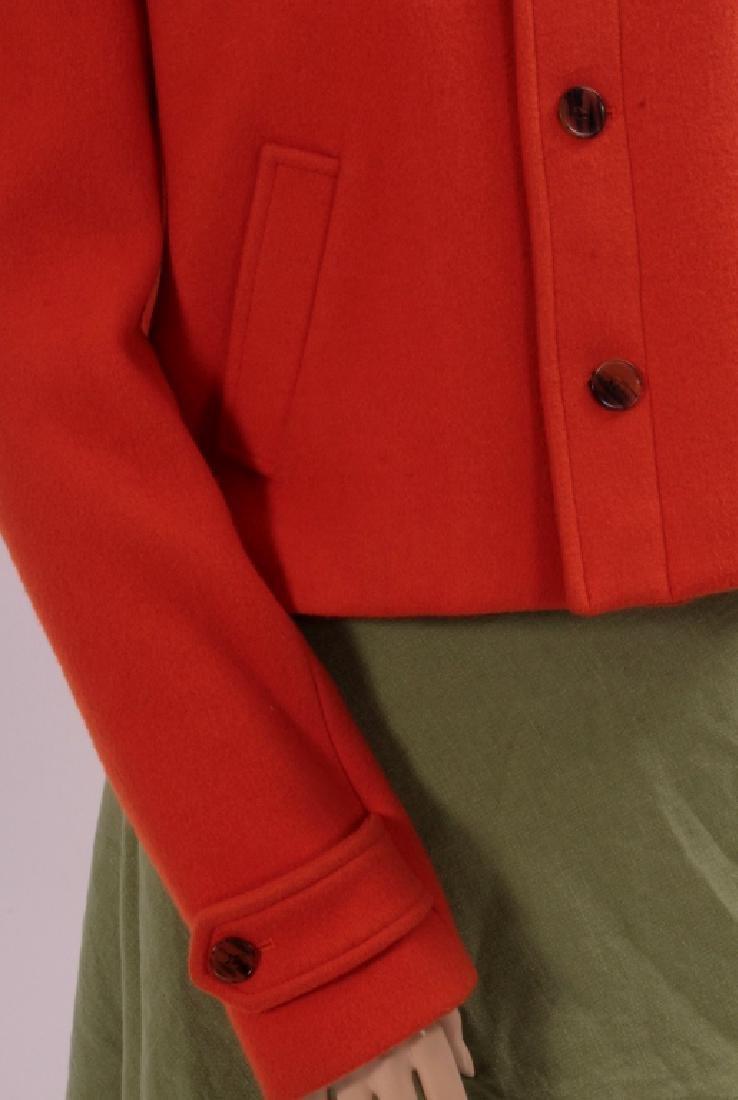 Ralph Lauren Orange Cashmere Jacket - 3