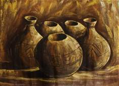 4 Contemporary African Oils As Found Rolled