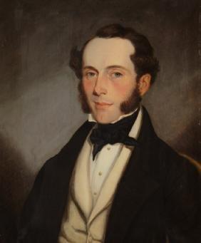 John II Smart, Brit,1793-1858, Portrait, O/C, 1844