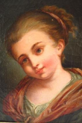 European School, 19th C., Portrait of Woman, O/C