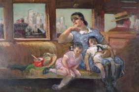 """Cecil Bell, 1906-1970, """"Homeward Bound"""", O/B"""